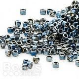 These little Miyuki Delica beads in steel blue are perfect for intricate work. Peyote Stitch, Seed Beads, Iris, Plating, Seeds, Glass, Blue, Shape, Metal