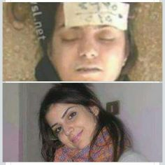 Yesterday, we showed you the photo of Rihab Allavi, the student from Deir ez Zour after she had been tortured in Assad's death chambers This shows what a beautiful woman she has been. #AssadWarCrimes #SYRIA
