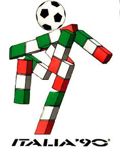 """Never forget Ciao, the terrifying World Cup Italia 90 mascot with a football for a head and a skeletal body made up of Italian flags"" World Cup Logo, Football Art, Football Stadiums, School Football, Fiction, 90s Nostalgia, Teenage Years, Cool Posters, Fifa"