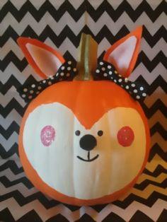 super cute Fox Pumpkins