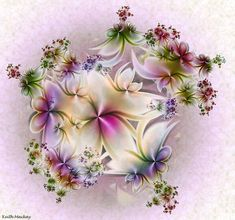 A gift from the heart  Flower created with fraktal editors #fractal design#wallpaper#shining flower, abstract,floral,gfrden bed