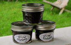 Wild Blueberry Jam, made with dark rum and spices and Pomonas Pectin.