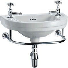 Burlington Round Cloakroom Basin - BURL053 (B11).   Traditional Bathroom Basins from UK Bathrooms