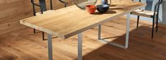 HARO – Tavoli in legno pregiato Interior Table – Hamberger Flooring GmbH & Co. Wood Table, Dining Table, Timber Flooring, Flooring Ideas, Furniture, Home Decor, Rustic Style, Home, Dining Room Tables