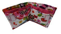 Wallet for Travel in Funky Pink Flower Prints by Sieberdesigns