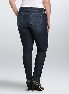 Torrid Curvy Skinny Jean - Sanded Medium Wash (Regular)Torrid Curvy Skinny Jean - Sanded Medium Wash (Regular),