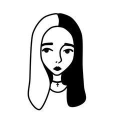 Minimalist Drawing, Minimalist Art, Kawaii Drawings, Easy Drawings, Art Inspo, Line Art, Art Sketches, Book Art, Art Projects