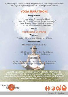 Yoga Marathon op zondag 22 juni van 1200u tot 1500u