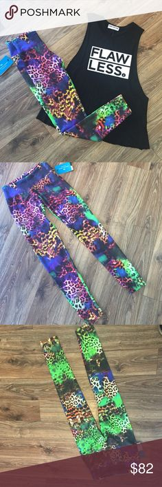 Candida Maria leggings Awesome print leggings in great colors! These super-soft leggings fit like second-skin and have a thick waist band to help prevent slippage. S/M = women's 0-6 M/L = women's 6-12. Fabric Supplex. 90% polyamide 10% spandex. (Tank is for sale too in a separate listing!!) candida maria Pants Leggings