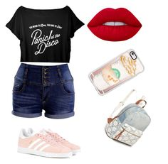 """""""Sin título #7"""" by daniela-reque on Polyvore featuring adidas Originals, Lime Crime, Casetify y Red Camel"""