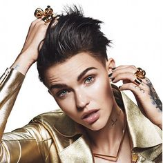 When you think you're gay, but then Ruby Rose comes and confuses you... haha #omg