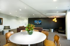 Bank Apartments' theater room. The Bank Apartments is the first 6 star energy efficient residential tower in Victoria.