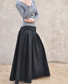 Long Maxi Skirt - This could be so easily made wonderful - not minding the grey blah