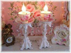 Reprise teacups - candlesticks