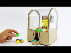 DIY Best Ever Toy Slam Dunk Double Bubble Mini Gumball Machine - YouTube