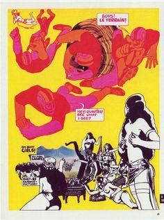 GUY PEELLAERT - 1970 Comic w/collage. Title? Not PRAVDA or JODELLE Best colors! Love his dark green.