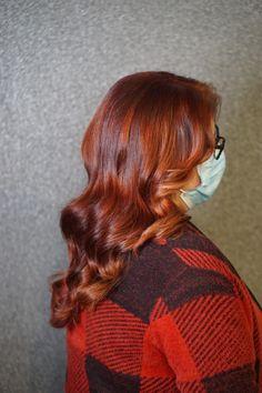 Mooie roodkopere diepe kleuring met faceframe en moneypiece Turtle Neck, Long Hair Styles, Sweaters, Beauty, Fashion, Noel, Moda, Fashion Styles, Long Hairstyle