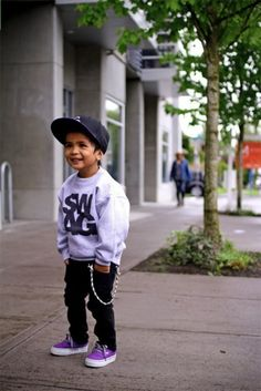 I would love to dress my son like this but the husband would kill me!  #Swag