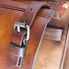 We make leather goods in the old way. Hand tools, hand punched, wooden handled awls, hand sewing, no machines, no power tools. Out of this shop, and