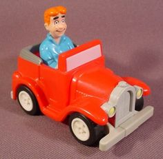 "Burger King 1991 Archie In Jalopy Car, 2 7/8"" Long, Gmc, Pull Back Motor Works"