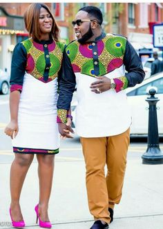 The most trendy and beautiful ankara styles and designs outfit for couples compilation. These ankara designs for couples were particularly selected for you and your partner. Couples African Outfits, African Attire, African Wear, African Women, African Shirts, African Print Dresses, African Fashion Dresses, African Dress, Ankara Fashion