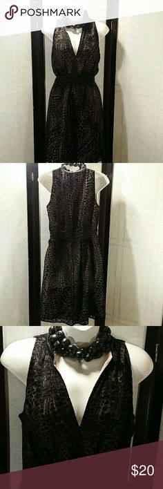 NWOT * Empire Dress * Beautiful * Black w/Tan Lining * Sleeveless * Above Knee * Rayon and Silk * Bundle and Save * BCBGMaxAzria Dresses