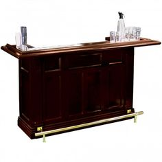 This stunning Mahogany Bar is a beautiful new addition to our collection of French style wooden home bars, available online now to buy Patio Garden Ideas Uk, Wooden Home Bar, Home Pub, French Furniture, French Style, Bars For Home, Foot Rest, French Antiques, Cabinet