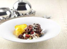 Il menu delle Feste dello chef Aurora Mazzucchelli: panpepato con  sorbetto al mandarino     casadivita.despar.it
