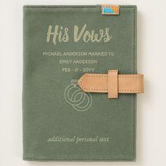 Custom Wedding Vow Books Rustic   HIS VOWS Journal - wedding cyo special idea weddings