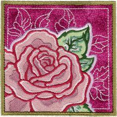 Rose 2 Applique from Garden Applique Set Dimensions: 4.30x4.30