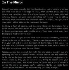 Creepypasta in which I'm too scared to read at night so I read it when people are in the room during the day Scary Horror Stories, Short Creepy Stories, Scary Stories To Tell, Spooky Stories, Weird Stories, Telling Stories, Ghost Stories, Creepy Pasta Stories, Paranormal Stories