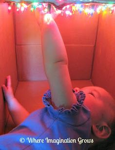 Star cave for infant sensory