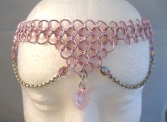 Princess Pink Chainmaille Costume Circlet by youvegotmaille