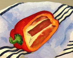 The Painted Quick Sketch - Becoming a Better Artist in 5 Days by MattAbraxas Oil Painting Lessons, Art Tutor, Painting Still Life, Quick Sketch, Learn To Paint, Best Artist, Fruits And Veggies, Hot Dog Buns, Watercolor Art