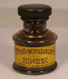 Waterman Ink Bottle v0697 England Rare Fountain Pen Ink Bottle