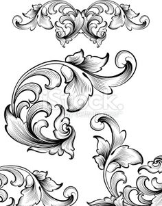 Intricate Flourish Set Royalty Free Stock Vector Art Illustration