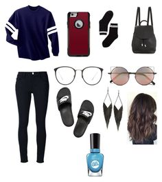 """Untitled #112"" by ohh-theres-china ❤ liked on Polyvore featuring Mode, OtterBox, Linda Farrow, Frame Denim, NIKE, Monki, rag & bone, GUESS und Sally Hansen"