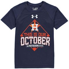 Houston Astros Under Armour Boys Youth 2015 Postseason This Is Our October Tech T-Shirt - Navy - $18.99