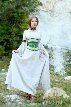 "Medieval Flax Corset Belt ""Mistress Of The Hills"" - Armstreet Apparel"