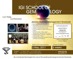 Be a #JewelryBusinessManagementGraduate @ Mumbai with #IGISchoolofGemology. Course starts from 2nd May, 2017 Call +919869100091 / 2223671028