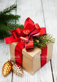 Christmas Gift Box Decorations Easy Christmas Gift Toppers Ideas Red Bow Jingle Bell Fir Branch