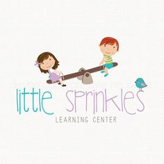 preschool logo kindergarten logo learning by stylemesweetdesign