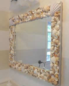 Shine Your Light Blog: Shell Mirror - {Tutorial}   shells from Sanibel Island, Captiva Island - Florida; Newport and Narragansett RI, and Cape Cod.