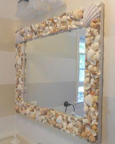Shine Your Light Blog: Shell Mirror - {Tutorial} shells from Sanibel Island, Captiva Island - Florida; Newport and Narragansett RI, and Cape Cod.