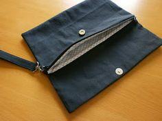 Nähanleitung für eine Clutch / Handtasche mit Magnetverschluss und Reißverschluss