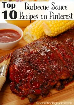 Make the Best Barbecue Ever! Check out the Top 10 Barbecue Sauce Recipes on… Rib Recipes, Crockpot Recipes, Great Recipes, Cooking Recipes, Favorite Recipes, Barbecue Sauce Recipes, Grilling Recipes, Bbq Sauces, Easy Meal Plans