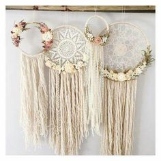 Dream Catchers Boho Baby, Dream Catcher Bedroom, Diy Dream Catcher, Lace Dream Catchers, Dream Catcher Mobile, Dream Catcher Tumblr, Shabby Chic Weddings, Shabby Chic Art, Romantic Shabby Chic