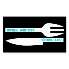 Personal chef minimalist business card black white business cards. Make your own business card with this great design. All you need is to add your info to this template. Click the image to try it out!