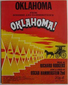 Oklahoma! Original Sheet Music.