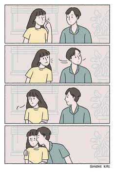 Ideas For Funny Cartoons Couples Truths Cute Couple Comics, Cute Couple Cartoon, Couples Comics, Comics Love, Cute Couple Art, Bd Comics, Anime Love Couple, Cute Comics, Cute Anime Couples